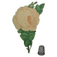 Antique 19th Century Pastel Rose Folding Paper Novelty Souvenir Bath, England Circa 1860