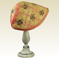 Antique French Straw Raffia Bonnet Beautiful Blackberry Fruit Design Paul Poiret Style Circa 1910