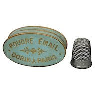Rare Antique 19th Century French Dorin Paris Cosmetic Face Powder Box Makeup Circa 1850