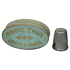 Rare Antique 19th Century French Dorin Paris Cosmetic Face Powder Box Makeup Circa 1850