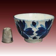 Antique Miniature Toy Tea Bowl Blue And White Pearlware Georgian Circa 1820