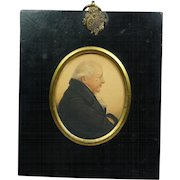 19th Century Signed Dated 1815 A R Burt Watercolor Portrait Miniature Sitter William Lloyd Esq Welsh Importance