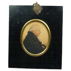 Antique Regency Portrait Miniature Signed A R Burt  1815 Sitter William Lloyd Esq Welsh Importance