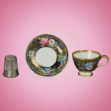 Antique Spode Doll Cup And Saucer Circa 1816 Regency Era