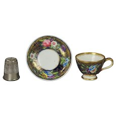 Antique Spode Miniature Doll Tea Cup And Saucer Circa 1816 Regency Era