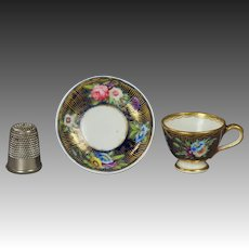 Antique Spode Pattern 2478 Miniature Doll Tea Cup And Saucer Circa 1816 Regency