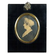 19th Century Regency Lady Portrait Miniature Rare J H Gillespie Trade Label Circa 1815