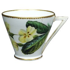 19th Century Cup Aesthetic Movement George Jones Porcelain Floral Tea Cup 1876