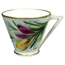 19th Century Aesthetic Movement Cup George Jones Porcelain Crocus Design 1876