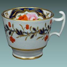 19th Century Circa 1815 Coalport London Shape Tea Cup Floral Regency
