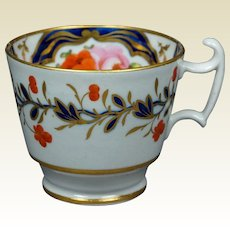19th Century Circa 1815 Coalport London Shape Tea Cup Floral Regency