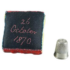 Antique Remembrance Pincushion Mourning Dedication Mama 1870 to 1912 Military