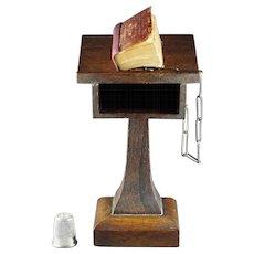 Antique Miniature Bible Pulpit Magnifier David Bryce and Son Glasgow 1901