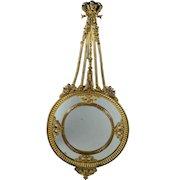 Antique French Mirror Bronze Dore Rococo Partitions Putti Circa 1860 Napoleon III
