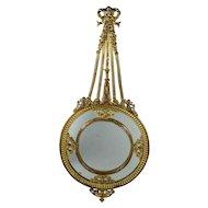 Antique 19th Century French Mirror Bronze Dore Rococo Motifs Putti Circa 1860 Napoleon III