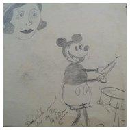 World War 2 Artist Album Sketchbook Drawings Paintings Cartoons 1930s Art Deco