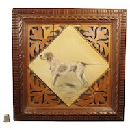 Antique Henry Frederick Lucas Lucas Dog Portrait Pointer Oil On Canvas Signed Dated 1912