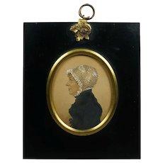 Antique Regency Portrait Miniature by A R Burt  English Lady 1813 Chester England