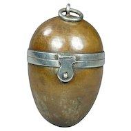 Antique Walter Thornhill Bronze Sewing Etui Egg Thimble Compendium Circa 1870