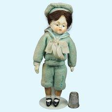 Vintage Doll Original 1930s Miniature Composition Sailor Hummel Goebel Lenci Style