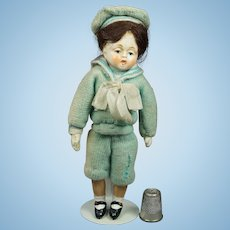 Vintage Doll Original 1930s Miniature Composition Sailor Hummel Goebel Lenci Style