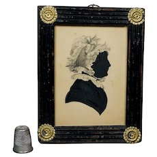 19th Century Georgian Silhouette Fancy Frame Sitter Elizabeth Stacey Weldon Family Connection