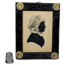 19th Century Georgian Silhouette Fancy Frame Sitter Elizabeth Stacey Weldon Family Connection