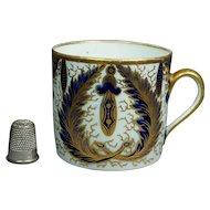 19th Century Coffee Can Cup English New Hall Porcelain Leaf Pattern Georgian Circa 1810