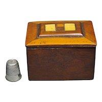 Circa 1810, Antique Sailors Miniature Wood Ditty Box, Georgian Treen