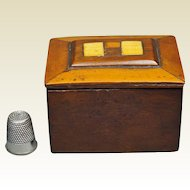 Antique Sailor Made Miniature Wood Ditty Box Circa 1810 Georgian Treen