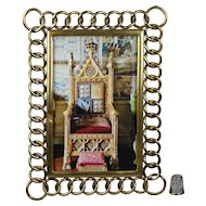 Antique English Brass Ring Photo Frame Brother and Sister Circa 1870