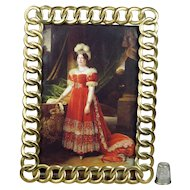 Antique Photo Frame English Brass Ring Circa 1870