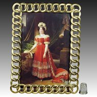 Antique Photo Frame English Brass Ring Circa 1870
