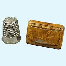 Antique 19th Century Miniature Snuff Box, Doll Size, Georgian Circa 1820
