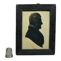 Georgian Silhouette Cut Paper Portrait Georgian Gentleman English Circa 1815
