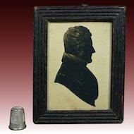 19th Century Silhouette Cut Paper Portrait Georgian Gentleman English Circa 1815