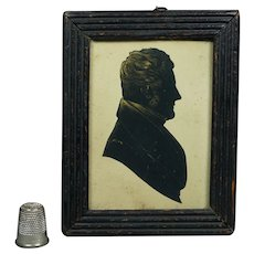 19th Century Silhouette Cut Paper Portrait Georgian Gentleman English Circa 1815
