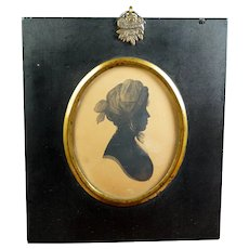 Regency Silhouette Lady, Mrs Micklethwaite by William Bullock Museum Liverpool, C 1808 Henry Clay Frame, Jane Austen Era