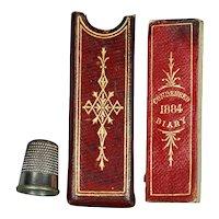 19th Century Miniature Red Leather Cased Diary De La Rue 1884 Victorian