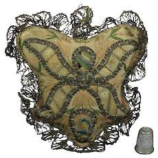 18th Century Silk Pincushion Reliquary Amulet Ex Voto Convent Monastery Work Circa 1780