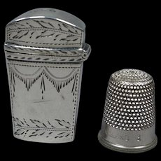 Antique Dated 1799 Doll Miniature English Sterling Silver Etui Snuff Box Fully Hallmarked  AF