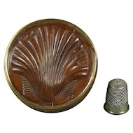 Antique French Candy Box Boite a Dragees Rare Clam Shell Shape Faux Chocolate Design Circa 1850