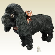 Vintage Farnell Toy Dog Black Mohair Cocker Spaniel English Circa 1930s