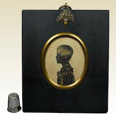 19th Century Bronzed Silhouette Of A Girl Child Called Eliza, Georgian Circa 1805
