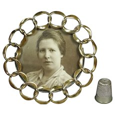 Miniature Brass Ring Circular Photo Frame English Circa 1870
