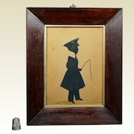 19th Century Full Length Cut Silhouette Child by W Seville Dated 1838