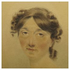 Antique Regency Miniature Watercolor Portrait by Joseph Slater Jnr England dated 1814