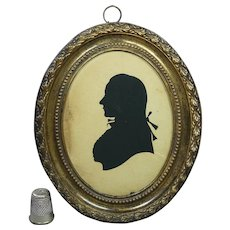 18th Century Mrs Sarah Harrington Hollow Cut Silhouette Profile Of A Gentleman English Circa 1780