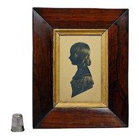 19th Century Regency Portrait Silhouette Girl Miss Shore Cut Paper Circa 1815