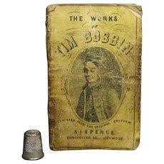 Antique Rare Miniature Book English Satirical Character Tim Bobbin by Abel Heywood Circa 1850